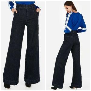 Express Wide Leg Super High Rise Jeans
